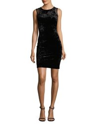 Design Lab Lord And Taylor Zippered Bodycon Dress Black