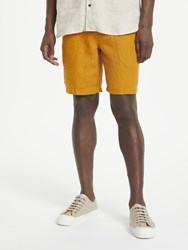 John Lewis And Co. Linen Shorts Gold