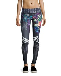 Onzie Graphic Printed Sport Leggings Tiger Lily Multi