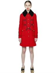 Vivetta Uniform Wool Coat W Faux Fur