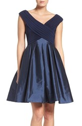 Adrianna Papell Women's Jersey And Taffeta Fit And Flare Dress