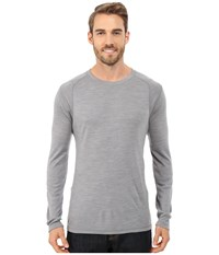Smartwool Nts Mid 250 Crew Top Light Grey Heather Men's Long Sleeve Pullover Gray