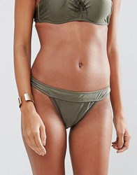 Missguided Mix And Match Low Rise Hipster Bikini Bottom Green