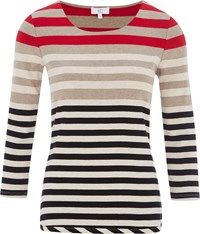 Cc Red Striped Jersey Top