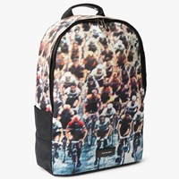 Paul Smith Ps By Canvas Cycling Print Backpack Multi