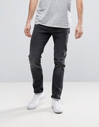 Only And Sons Jeans In Slim Fit With Jogger Stretch Acid Black Grey