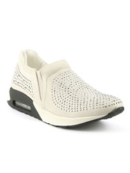 Daniel Allerthorpe Embellished Slip On Trainers Grey