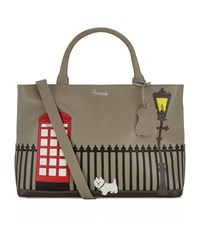 Harrods Westie Leather Tote Bag Unisex