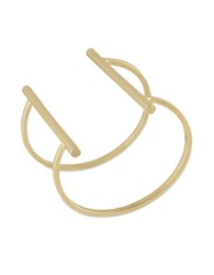 French Connection Goldtone Open Tube Cuff Bracelet