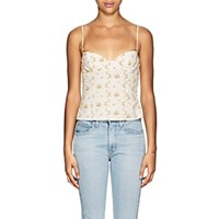 Brock Collection Oboe Floral Cotton Crop Top 112 Open White 112 Open White
