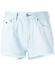 Tommy Jeans High Waisted Shorts Women Cotton 25 Blue