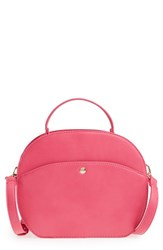 Sole Society Oval Canteen Faux Leather Satchel Pink Fuschia