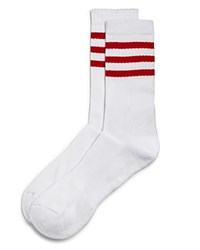 Bloomingdale's The Store At Striped Tube Socks White Red