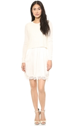 Clu Sweater Attached Slip Dress Ivory Ivory