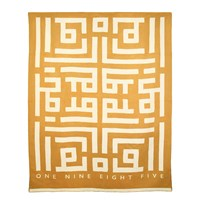One Nine Eight Five Labyrinth Throw 160X190cm Gold