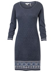 Fat Face Tenby Farisle Knit Dress Moleskin