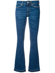 Dondup Stonewashed Flared Jeans Blue