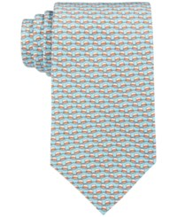 Brooks Brothers Men's Panama Hat Neat Tie Blue