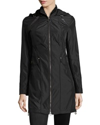 Laundry By Shelli Segal Side Zip Trenchcoat Black