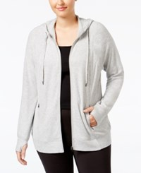 Ideology Plus Size Hoodie Only At Macy's Heather Gray