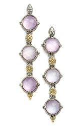 Women's Konstantino 'Iliada' Triple Drop Earrings Pink