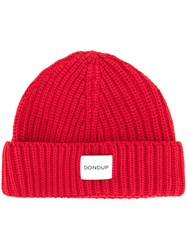 Dondup Knitted Hat Acrylic Wool Red