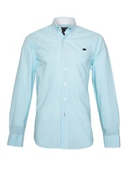 Raging Bull Candy Stripe Long Sleeve Button Down Shirt Turquoise