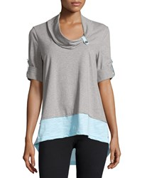 Neon Buddha Surf Contrast Cotton Blend Tunic Refined Mint