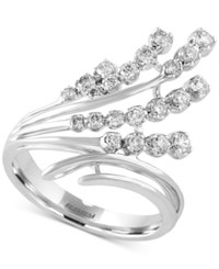 Effy Collection Pave Classica By Effy Diamond Waterfall Ring 1 2 Ct. T.W. In 14K White Gold