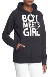 Women's Boy Meets Girl Full Zip Graphic Hoodie