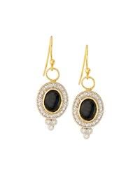 Jude Frances Judefrances Jewelry 18K Oval Onyx And Diamond Earring Charms Women's