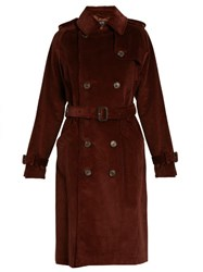 A.P.C. Barbara Corduroy Trench Coat Burgundy