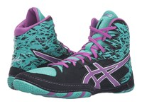Asics Cael V7.0 Black Orchid Turquoise Men's Wrestling Shoes Multi
