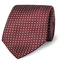 Canali 8Cm Pin Dot Silk Tie Red