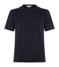 Gieves And Hawkes Round Neck Cotton T Shirt Navy