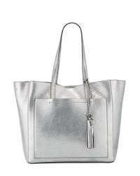 Cole Haan Natalie Unlined Metallic Tote Bag Anthracite