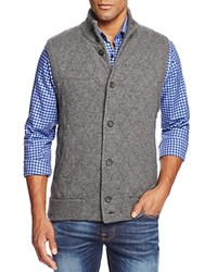Bloomingdale's The Men's Store At Diamond Quilted Cashmere Vest Granite Grey