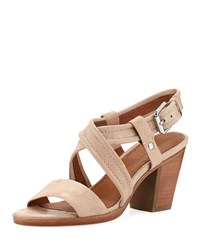 Frye Dani Grained Leather Sandals Cream