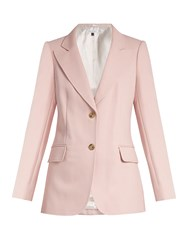 Bella Freud Isaac Single Breasted Cotton Blend Jacket Pink