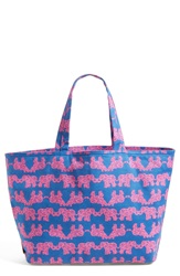 Lilly Pulitzer Print Canvas Beach Tote Indigo Pack Your Trunk