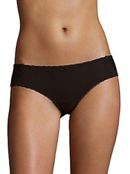 Skarlett Blue Solid Bow Detail Panty Black