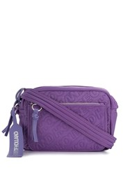 House Of Holland Embroidered Logo Crossbody Bag Purple