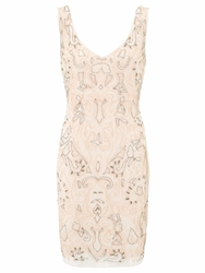 Ariella Lois Sequined Short Cocktail Dress Pink