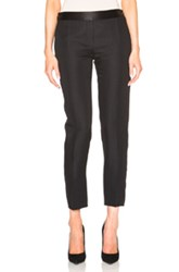 Victoria Beckham Sateen Tailoring Tux Trousers In Black