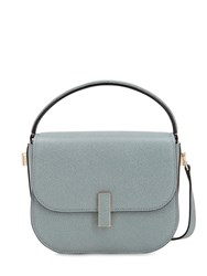 Valextra Mini Iside Grained Leather Crossbody Bag Polvere
