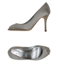 Martin Clay Pumps With Open Toe Blue