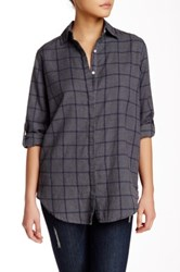 Sundry Flannel Check Shirt Gray