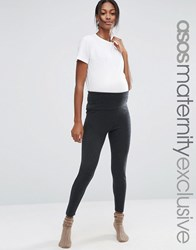 Asos Maternity Lounge Knitted Legging Charcoal Grey