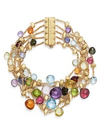 Marco Bicego 18K Yellow Gold Paradise Five Strand Mixed Stone Bracelet
