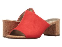 Bandolino Spars Persimmon Cork Faux Suede Women's Shoes Red